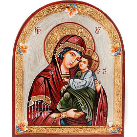 Rumanian hand-painted icons: Icon, Our Lady of Tenderness