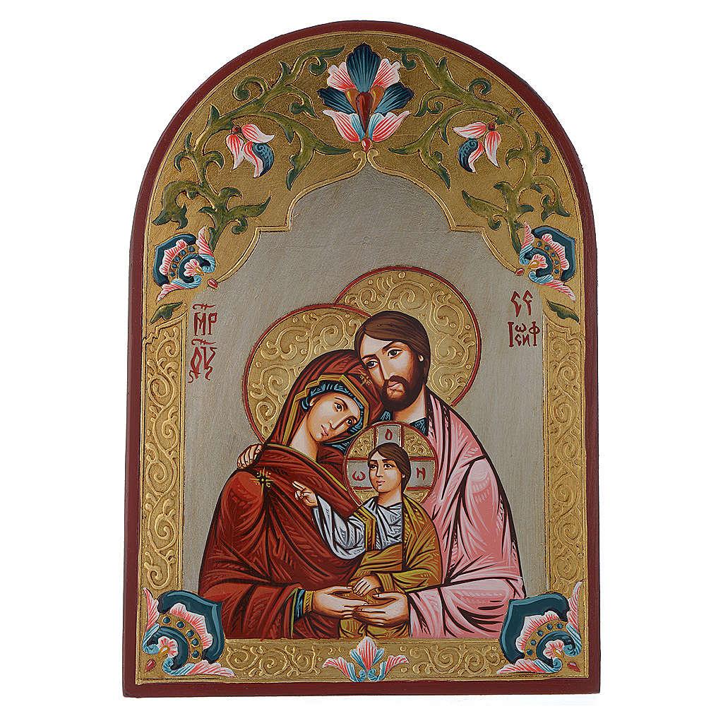 Icona della Sacra Famiglia ovale 30x20 cm 4