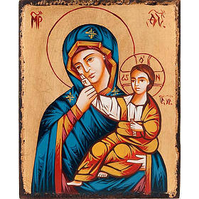 Rumanian hand-painted icons: Mother of God of Paramythia icon