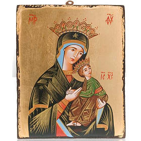 Rumanian hand-painted icons: Virgin of the Passion icon