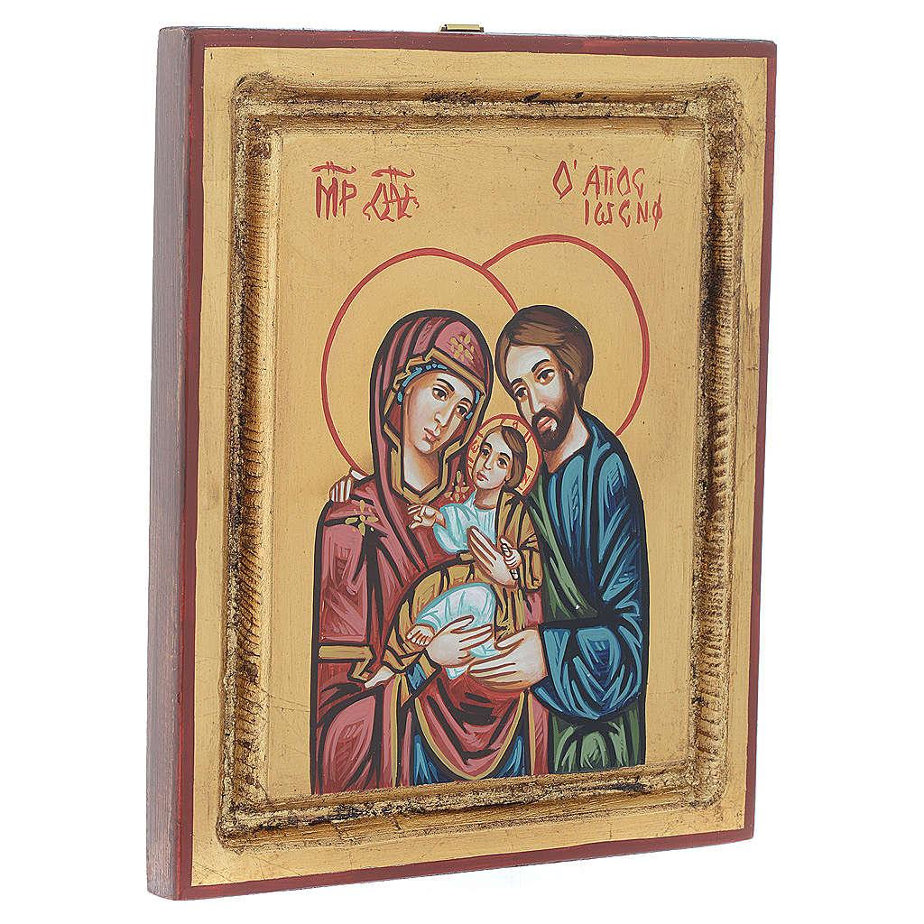 Icône sainte famille fond en or 4