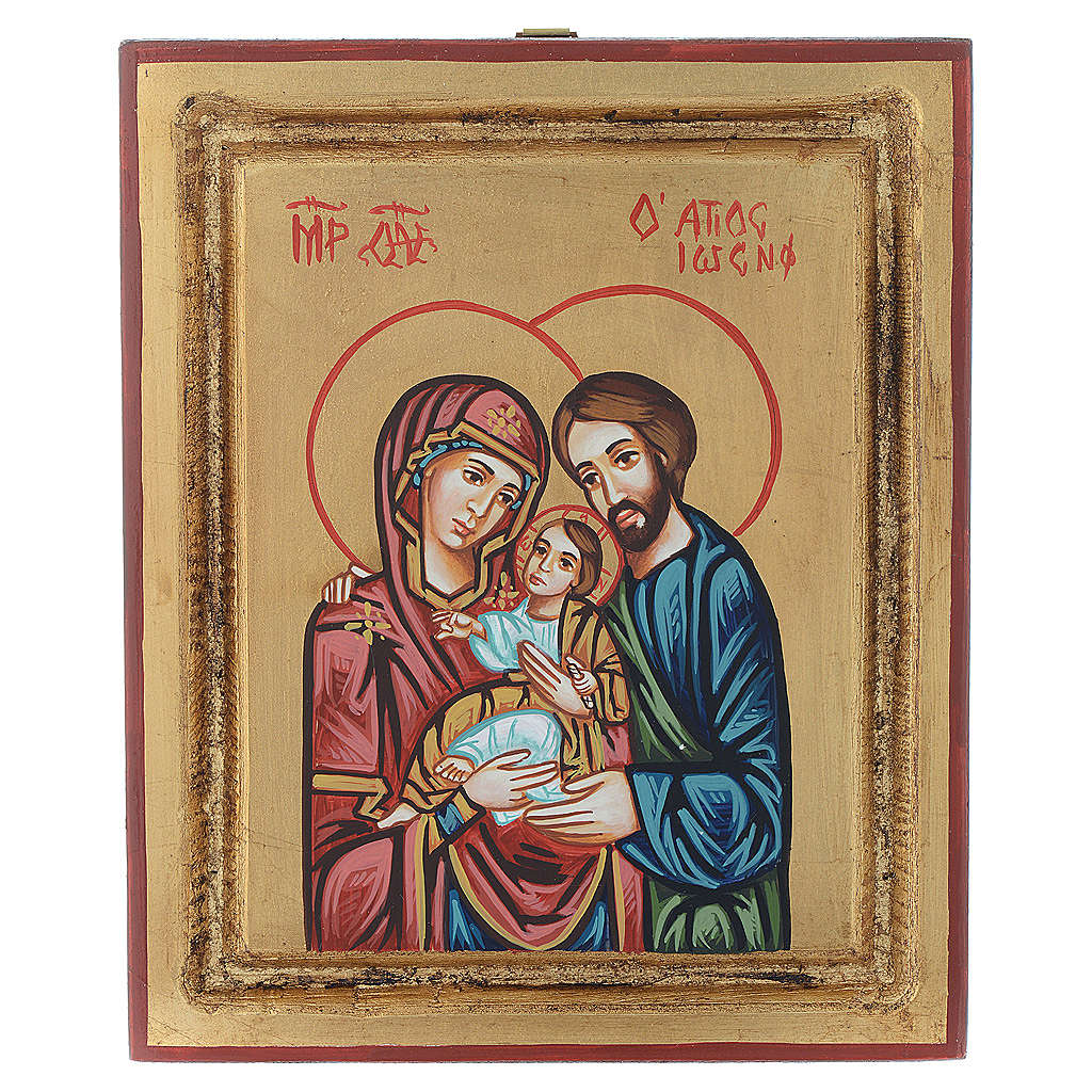 Holy Family icon, golden background 4