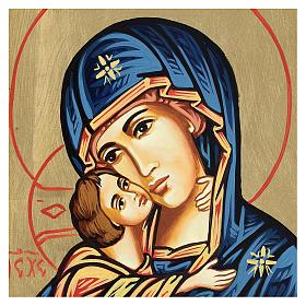 Icona Vergine della Tenerezza 18 x 22 cm s2