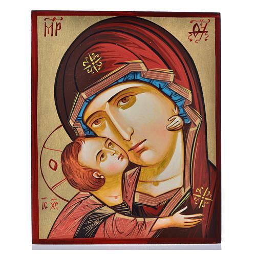 Icona Vergine della Tenerezza 18 x 22 cm 1