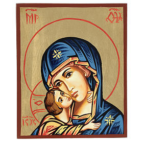 Rumanian hand-painted icons: Our Lady of Vladimir icon 18x22cm