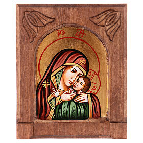 Rumanian hand-painted icons: Mother of God by Kasperov icon, made in Romania