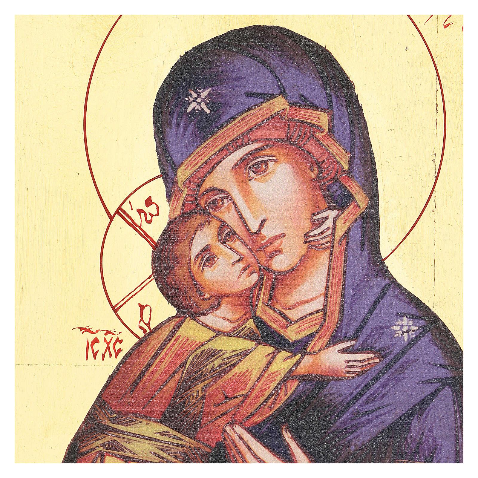 Ícono serigrafiado Virgen Vladimir de la Ternura 4