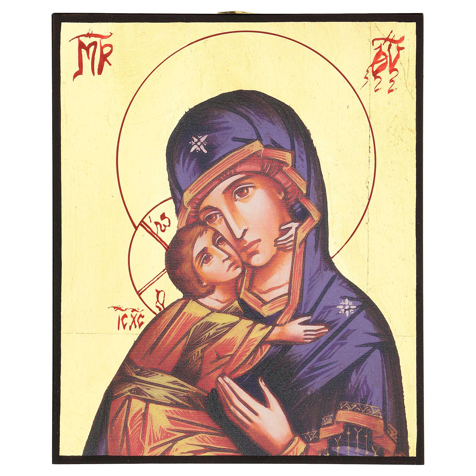 Icône imprimée Vierge de Vladimir de la Tendresse 4