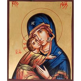 Icônes imprimées sur bois et pierre: Icône imprimée Vierge de Vladimir de la Tendresse