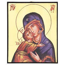 Icône imprimée Vierge de Vladimir de la Tendresse s1