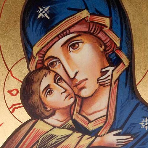 Icône imprimée Vierge de Vladimir de la Tendresse 2