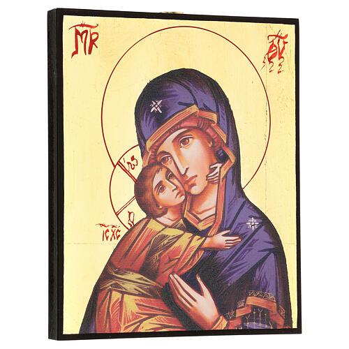 Icône imprimée Vierge de Vladimir de la Tendresse 3