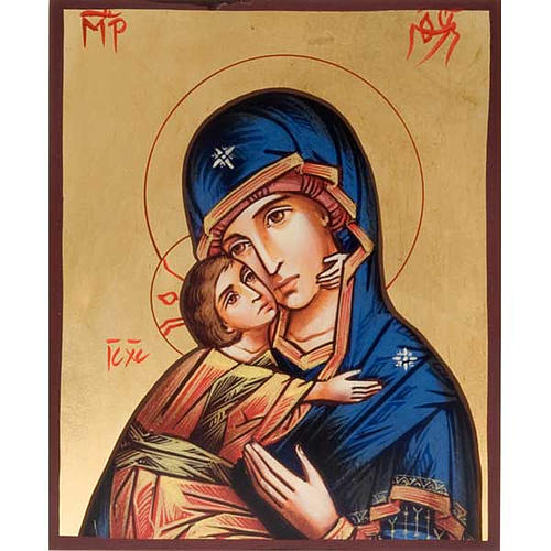 Silkscreen print of Our Lady of Tenderness Vladimir 1