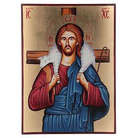 Icona sacra Cristo Buon Pastore Romania s1