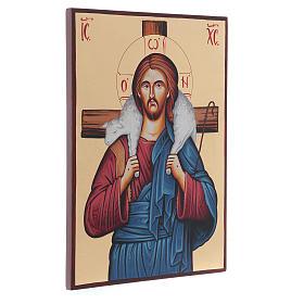 Icona sacra Cristo Buon Pastore Romania s2