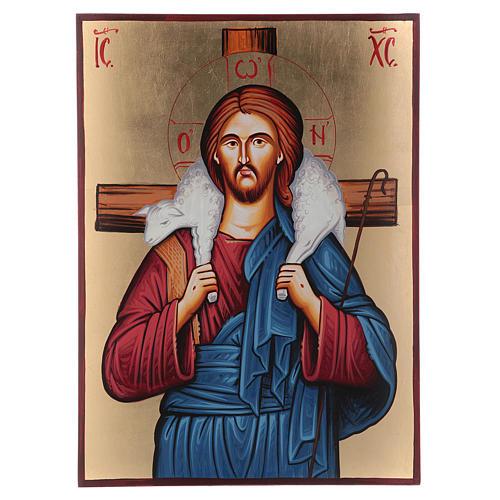 Icona sacra Cristo Buon Pastore Romania 1