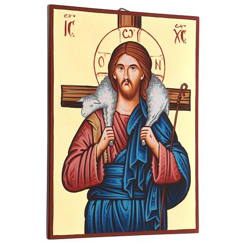 Icona sacra Cristo Buon Pastore Romania 3