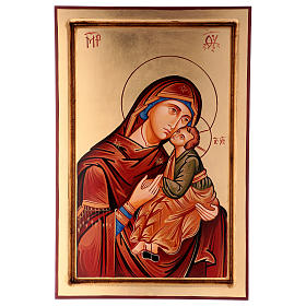 Rumanian hand-painted icons: Eleousa icon, The Merciful