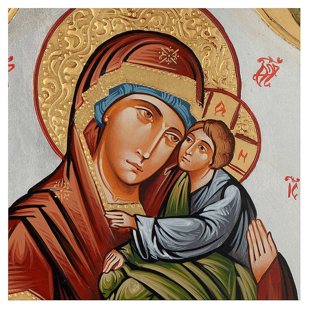 Icone Vierge de la Tendresse décorée 4