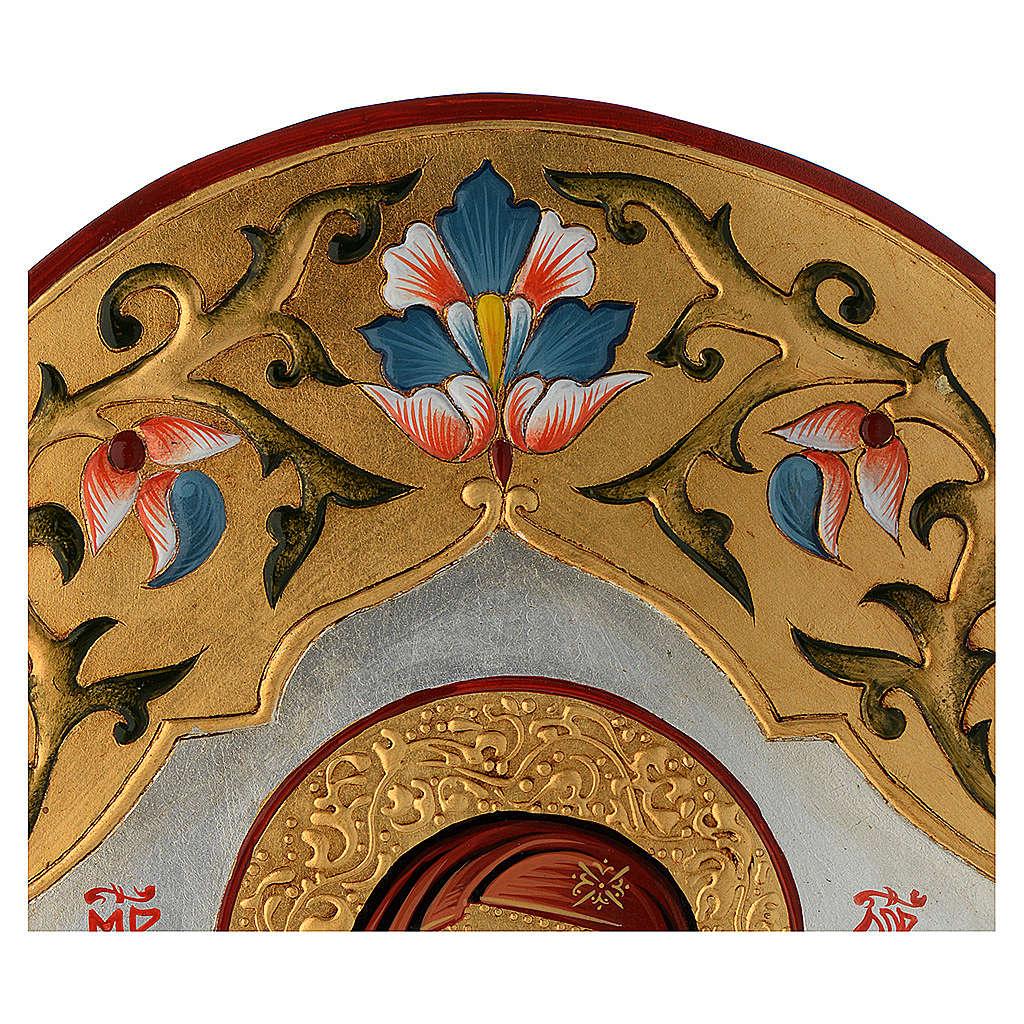 Icona Vergine della tenerezza decorata 4