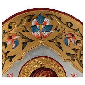 Icona Vergine della tenerezza decorata s3