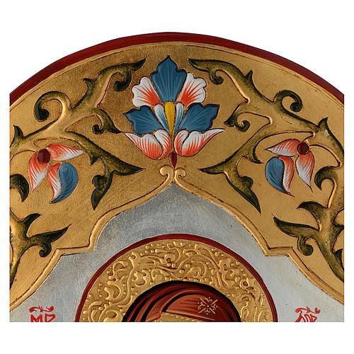 Icona Vergine della tenerezza decorata 3