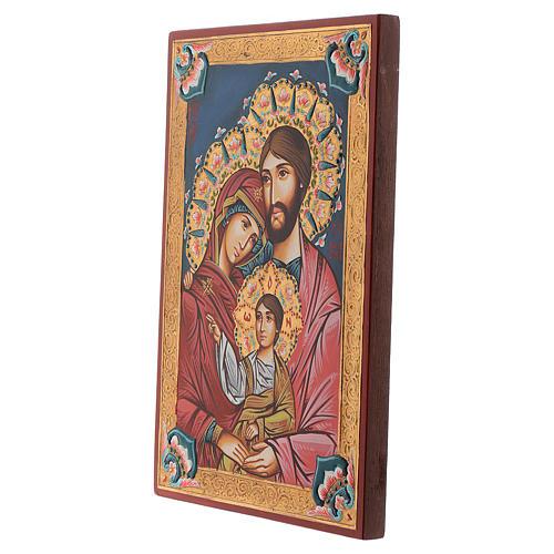 Icona Sacra Famiglia dipinta a mano rumena 2
