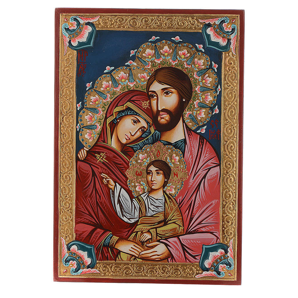 Holy Family icon, hand-painted, Rumanian 4