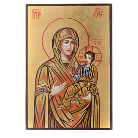 Rumanian hand-painted icons: Virgin Hodegetria icon