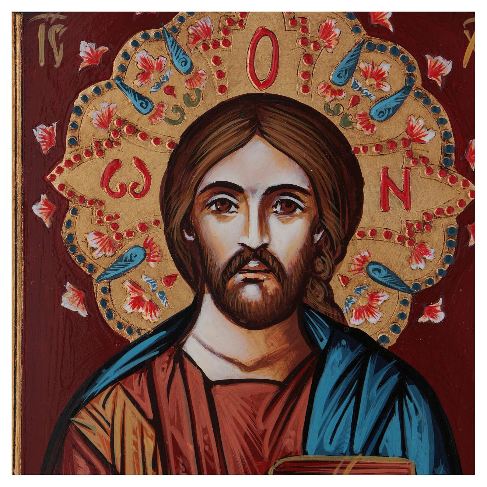 Ícone pintado à mão Pantocrator livro fechado 4