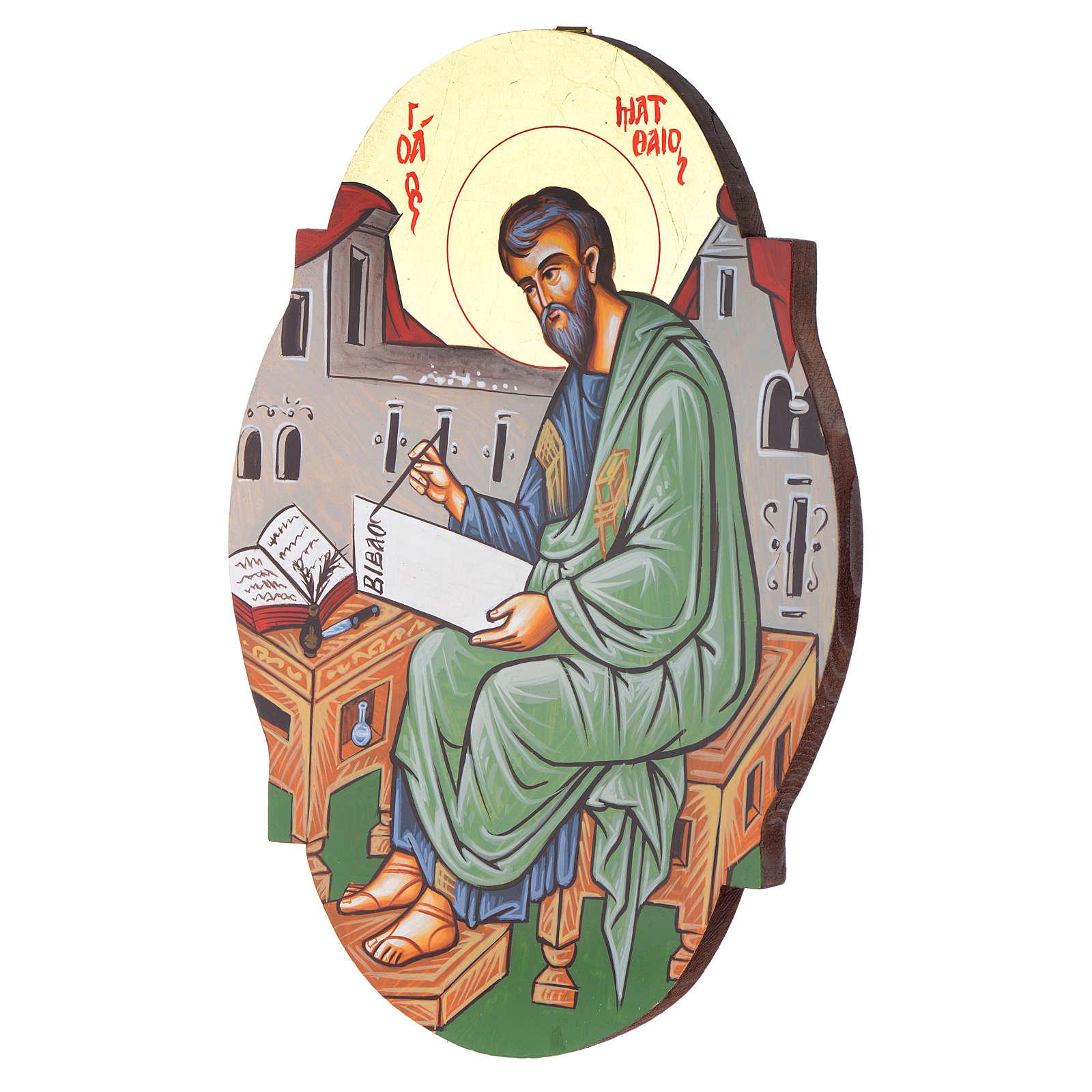 Icône  St. Mathieu ovale 4