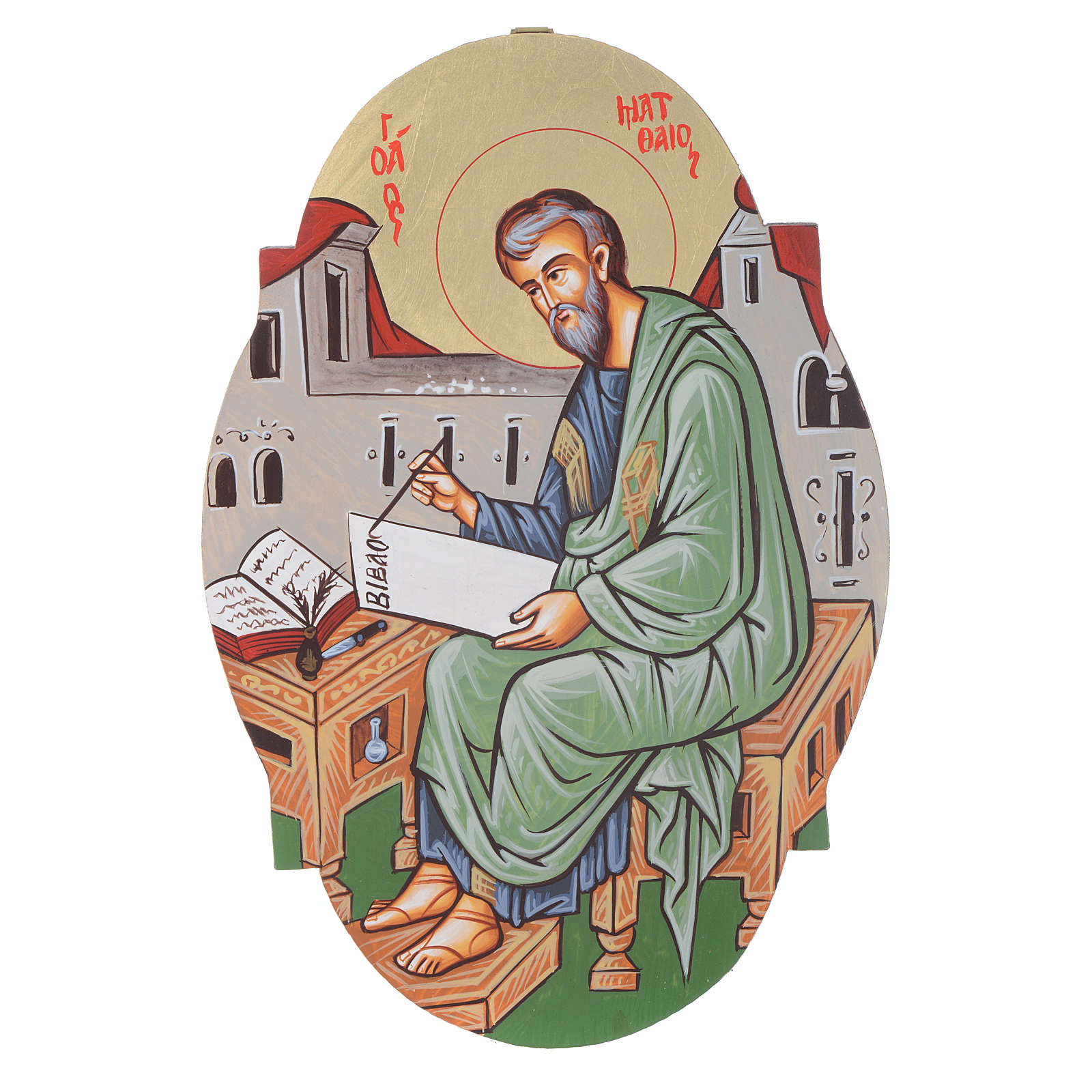 Icona San Matteo ovale 4