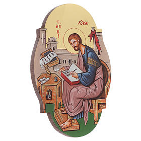 Icône St. Luc évangéliste, ovale s2
