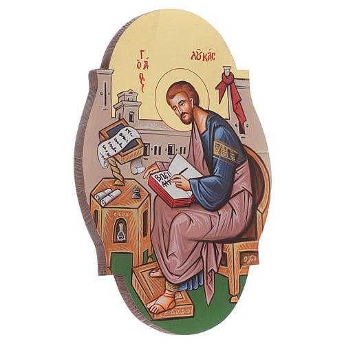 Icône St. Luc évangéliste, ovale 2