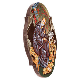 Icône St. Jean évangéliste ovale s3
