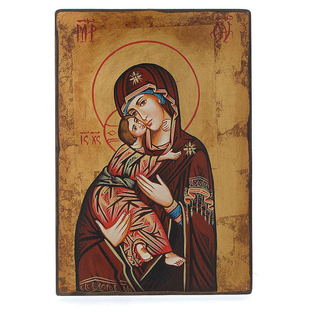 Icona Vergine di Vladimir bordo irregolare 4