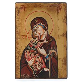 Icona Vergine di Vladimir bordo irregolare s3