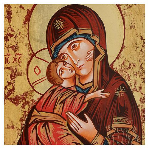 Icona Vergine di Vladimir bordo irregolare 2