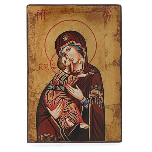 Icona Vergine di Vladimir bordo irregolare 3