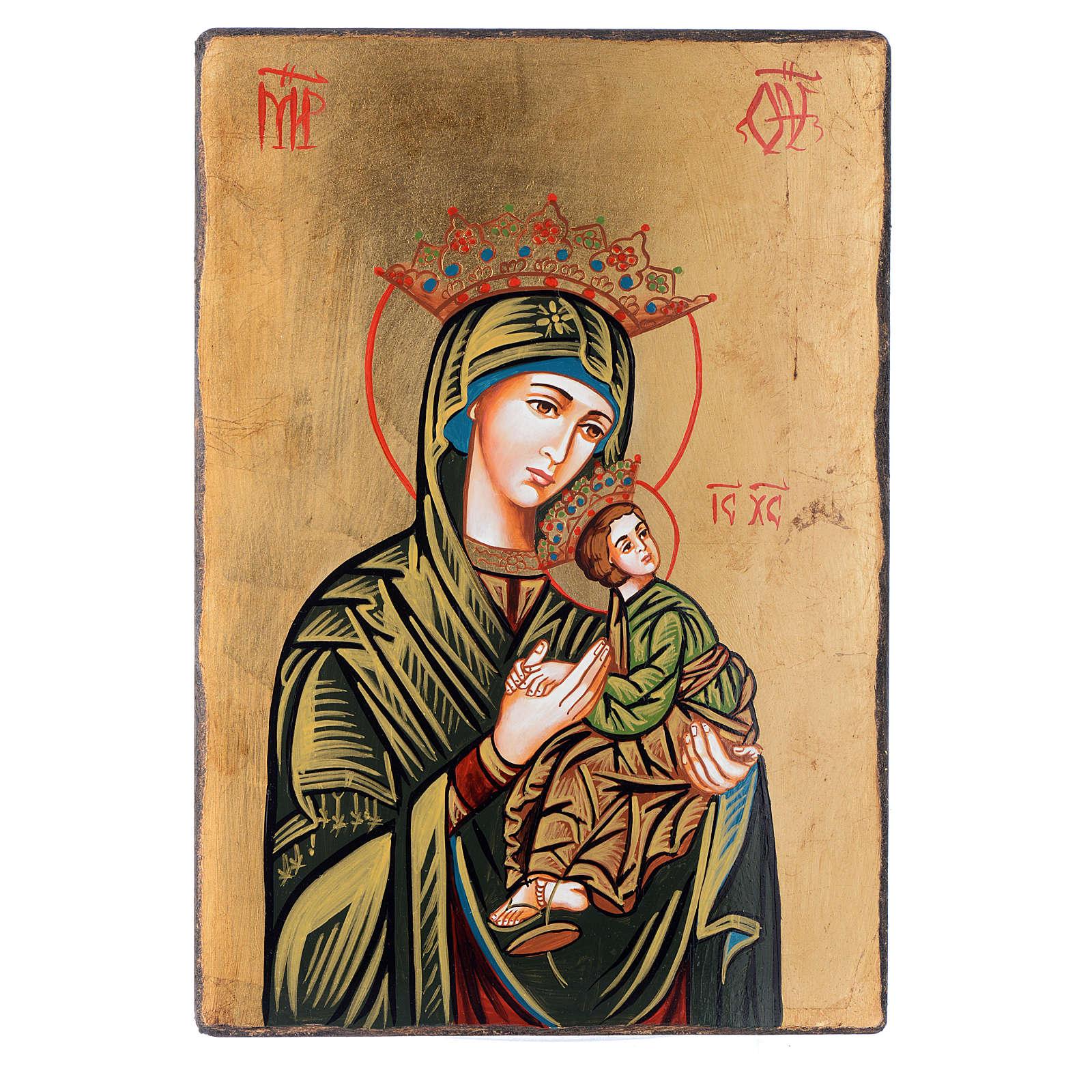 Icona Madonna della Passione con bordo irregolare 4