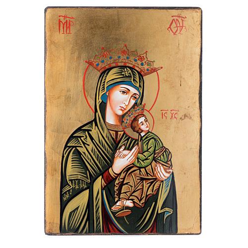 Icona Madonna della Passione con bordo irregolare 1