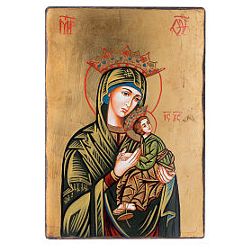 Rumanian hand-painted icons: Our Lady of the Passion icon with irregular edges