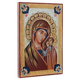Icône Vierge de Kazan décors multicolores s2