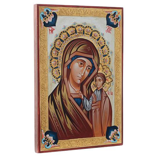 Icône Vierge de Kazan décors multicolores 2