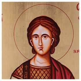 Icona Santo Stefano dipinta Romania s2