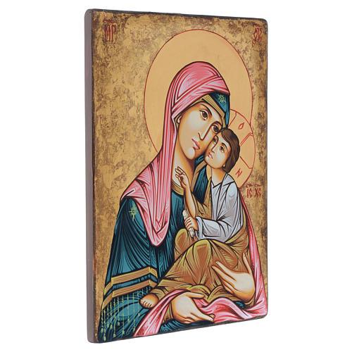Icona Romani dipinta Madonna con bambino 40x30 cm 2
