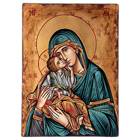 Rumanian hand-painted icons: Romanian hand painted icon Madonna with Child 40x30 cm