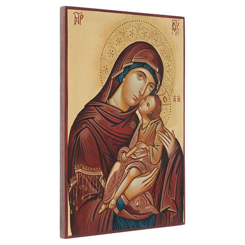 Icona rumena dipinta Madonna con bambino 40x30 cm 2