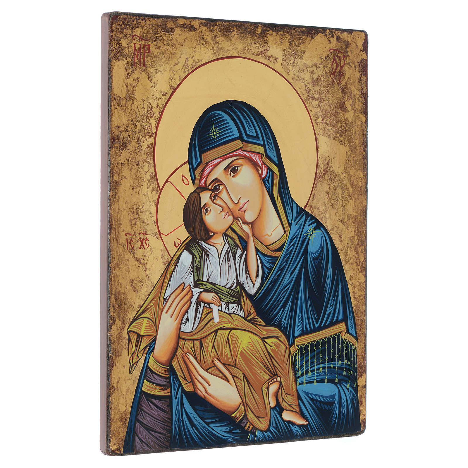 Romanian painted icon Madonna and Child 40x30 cm 4