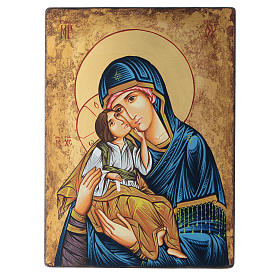 Romanian painted icon Madonna and Child 40x30 cm s1